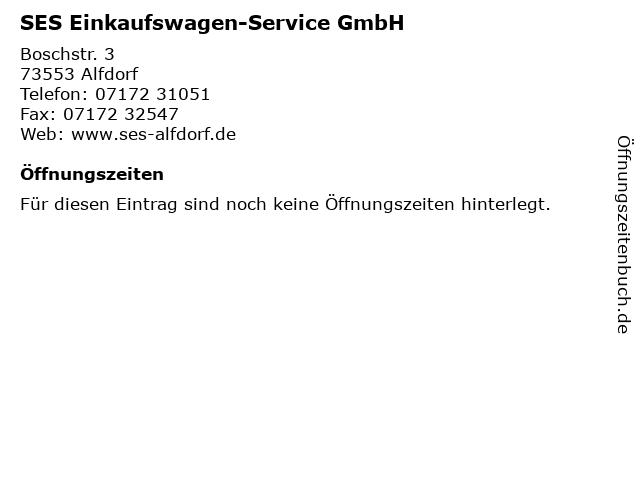 SES Einkaufswagen-Service GmbH in Alfdorf: Adresse und Öffnungszeiten