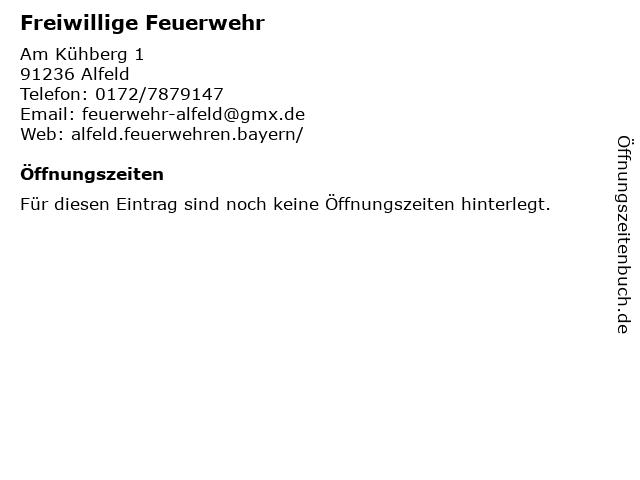 Freiwillige Feuerwehr in Alfeld: Adresse und Öffnungszeiten