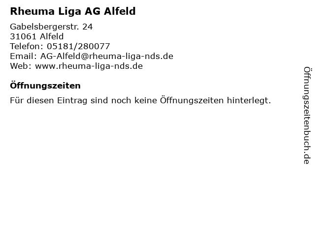 Rheuma Liga AG Alfeld in Alfeld: Adresse und Öffnungszeiten