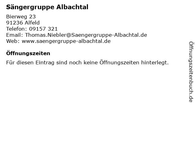 Sängergruppe Albachtal in Alfeld: Adresse und Öffnungszeiten