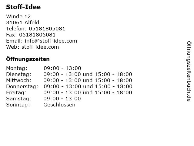 Stoff-Idee in Alfeld: Adresse und Öffnungszeiten