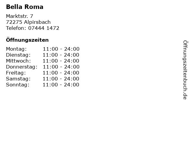 Bella Roma in Alpirsbach: Adresse und Öffnungszeiten