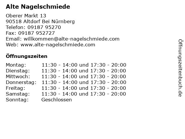 Alte Nagelschmiede in Altdorf Bei Nürnberg: Adresse und Öffnungszeiten