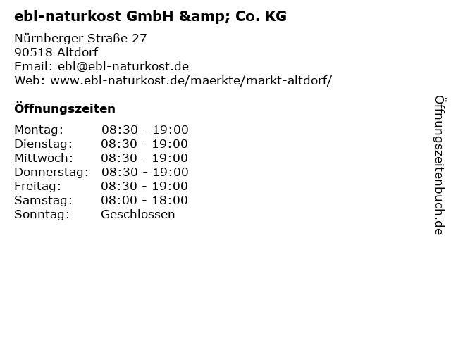 ebl-naturkost GmbH & Co. KG in Altdorf bei Nürnberg: Adresse und Öffnungszeiten