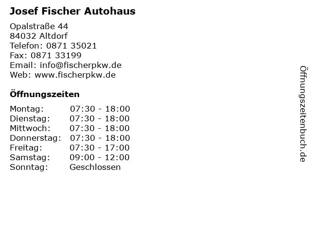 Josef Fischer Autohaus in Altdorf: Adresse und Öffnungszeiten