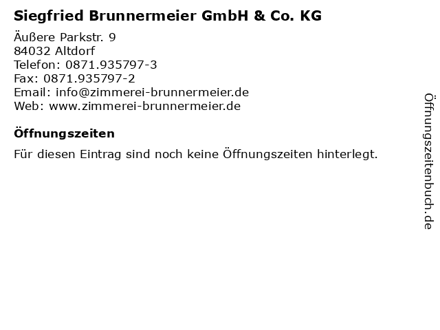 Siegfried Brunnermeier GmbH & Co. KG in Altdorf: Adresse und Öffnungszeiten