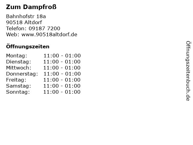 Zum Dampfroß in Altdorf: Adresse und Öffnungszeiten