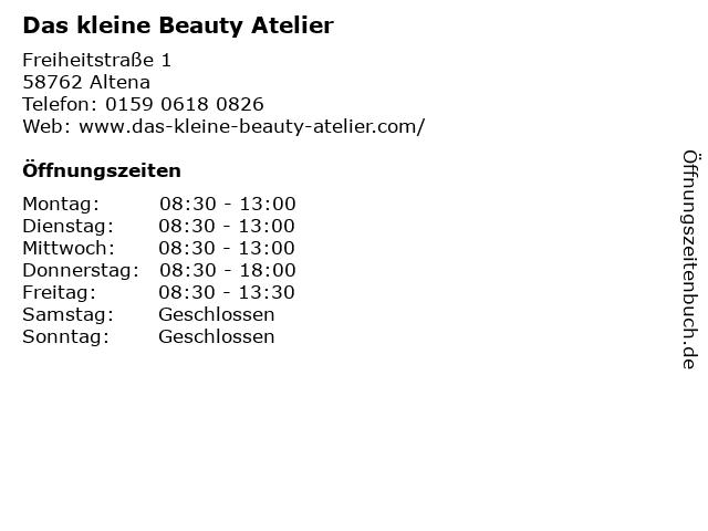 Das kleine Beauty Atelier in Altena: Adresse und Öffnungszeiten