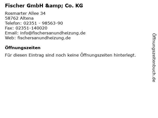 Fischer GmbH & Co. KG in Altena: Adresse und Öffnungszeiten