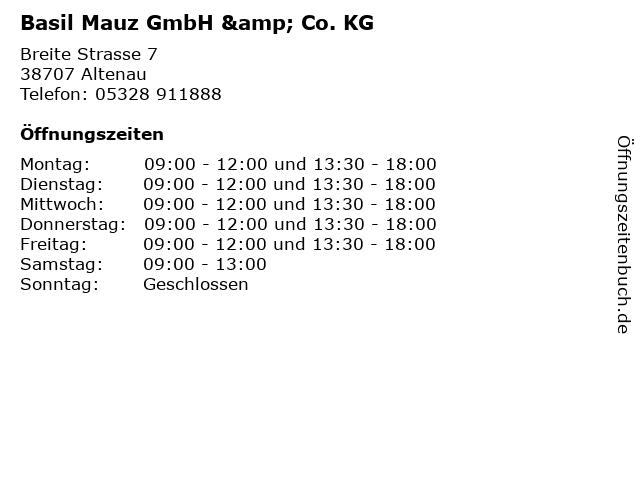 Basil Mauz GmbH & Co. KG in Altenau: Adresse und Öffnungszeiten