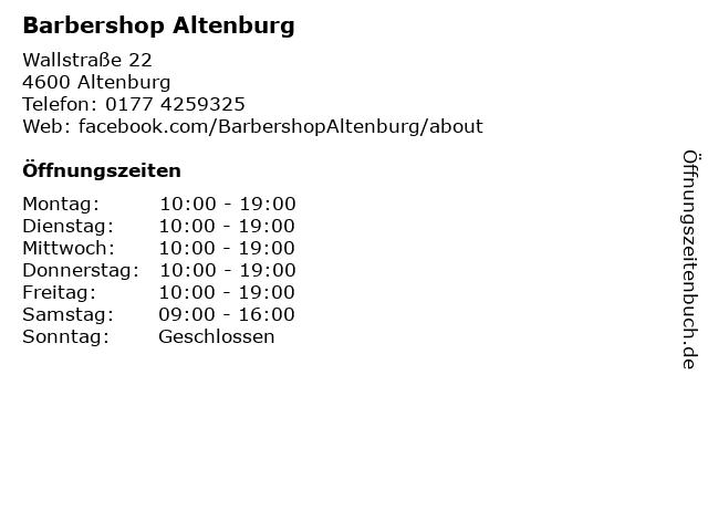 Barbershop Altenburg in Altenburg: Adresse und Öffnungszeiten