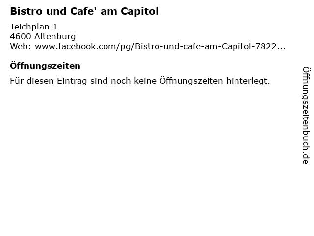 Bistro und Cafe' am Capitol in Altenburg: Adresse und Öffnungszeiten