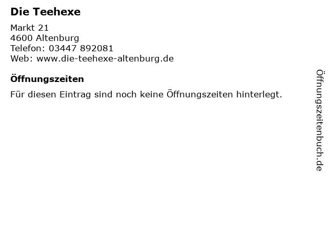 Die Teehexe in Altenburg: Adresse und Öffnungszeiten