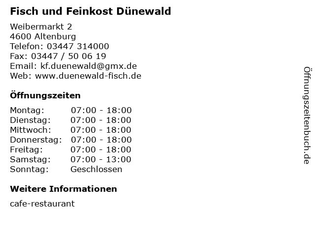 Fisch und Feinkost Dünewald in Altenburg: Adresse und Öffnungszeiten