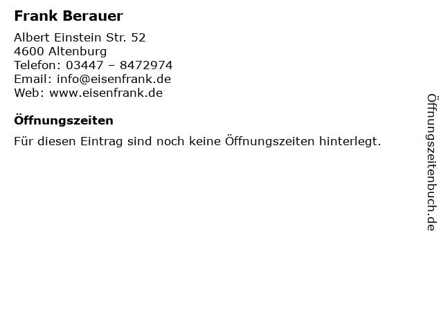 Frank Berauer in Altenburg: Adresse und Öffnungszeiten