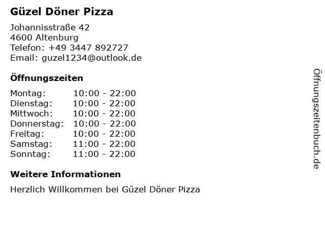 Hiwa Döner Grill in Altenburg: Adresse und Öffnungszeiten