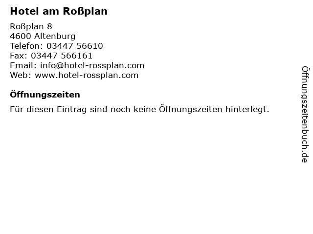 Hotel am Roßplan in Altenburg: Adresse und Öffnungszeiten