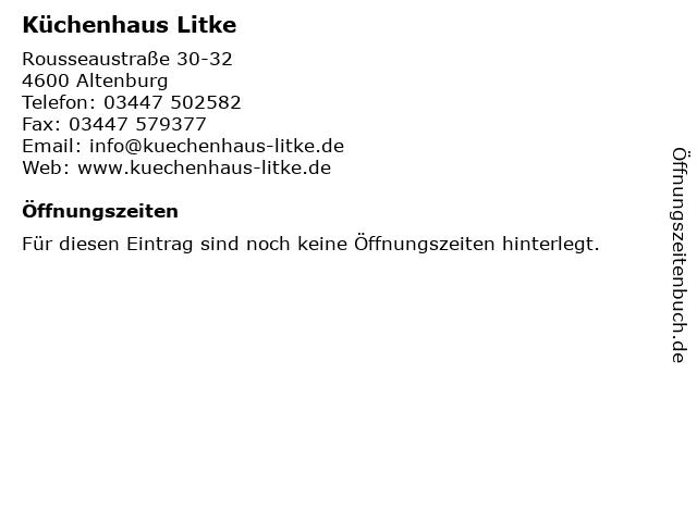 ᐅ Offnungszeiten Kuchenhaus Litke Rousseaustrasse 30 32 In Altenburg