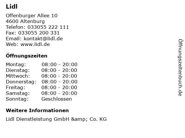 Lidl in Altenburg: Adresse und Öffnungszeiten