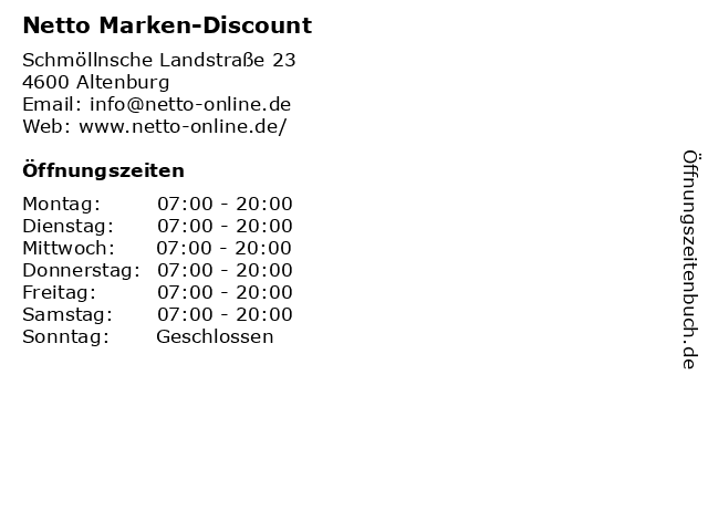 Netto Marken-Discount in Altenburg: Adresse und Öffnungszeiten