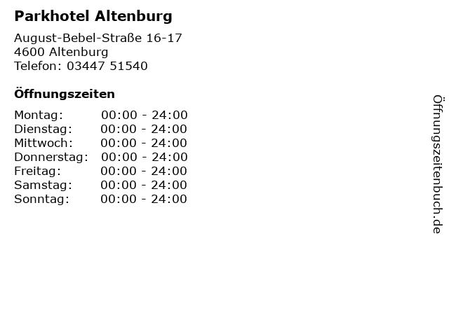 Parkhotel Altenburg in Altenburg: Adresse und Öffnungszeiten