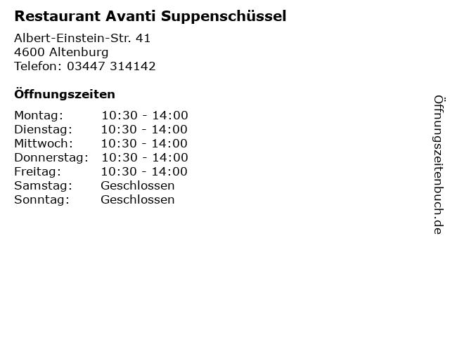 Restaurant Avanti Suppenschüssel in Altenburg: Adresse und Öffnungszeiten