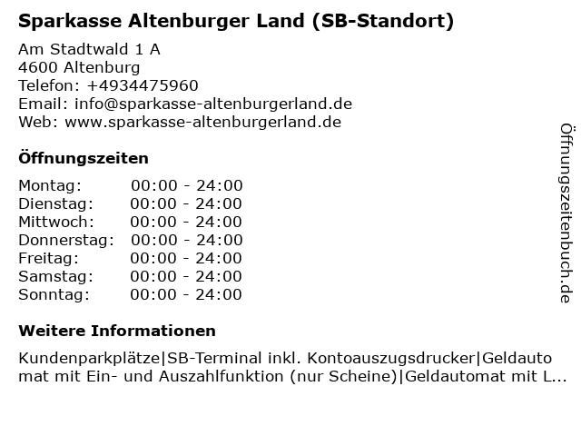 Sparkasse Altenburger Land - (Geldautomat Filiale) in Altenburg: Adresse und Öffnungszeiten