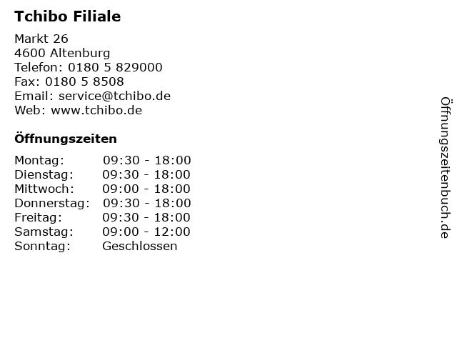 Tchibo Filiale in Altenburg: Adresse und Öffnungszeiten
