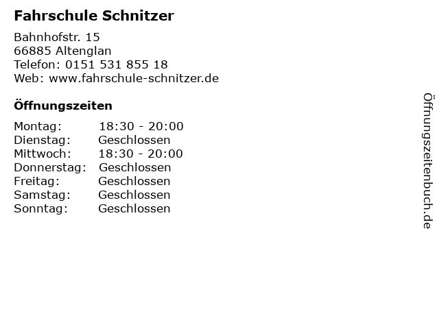 Fahrschule Schnitzer in Altenglan: Adresse und Öffnungszeiten