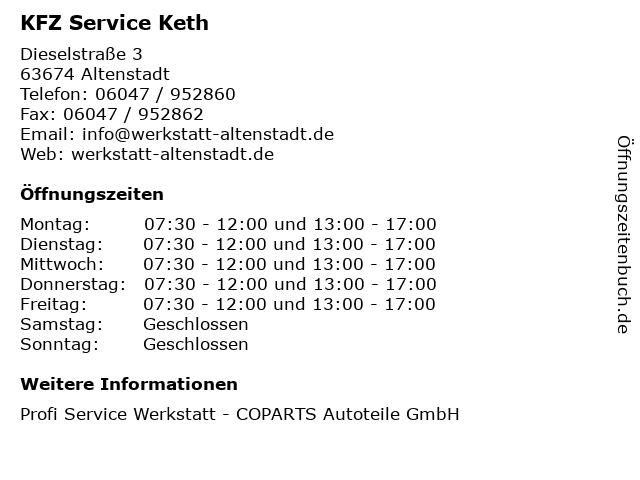 KFZ Service Keth in Altenstadt: Adresse und Öffnungszeiten