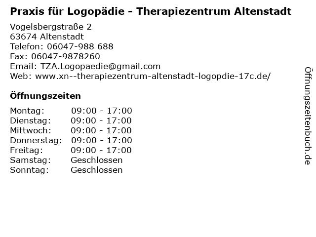 Praxis für Logopädie - Therapiezentrum Altenstadt in Altenstadt: Adresse und Öffnungszeiten