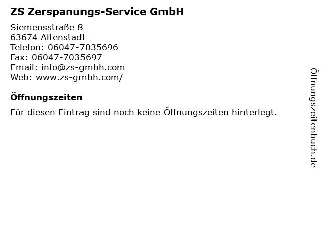 ZS Zerspanungs-Service GmbH in Altenstadt: Adresse und Öffnungszeiten