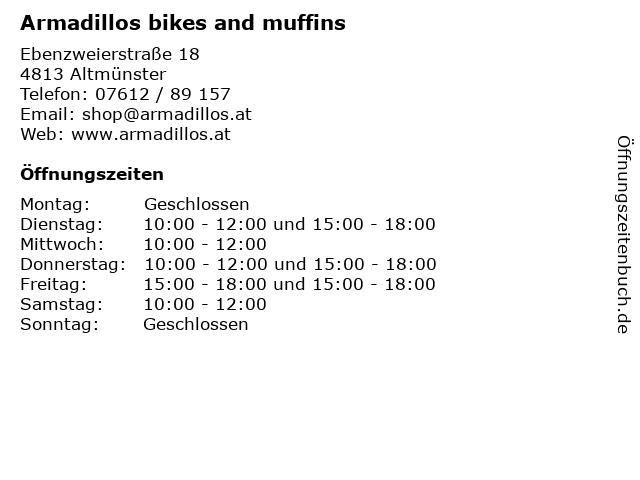 Armadillos bikes and muffins in Altmünster: Adresse und Öffnungszeiten