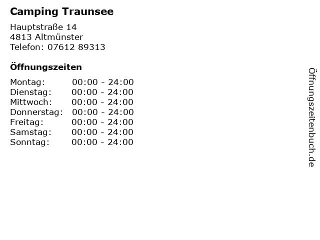 Camping Traunsee in Altmünster: Adresse und Öffnungszeiten