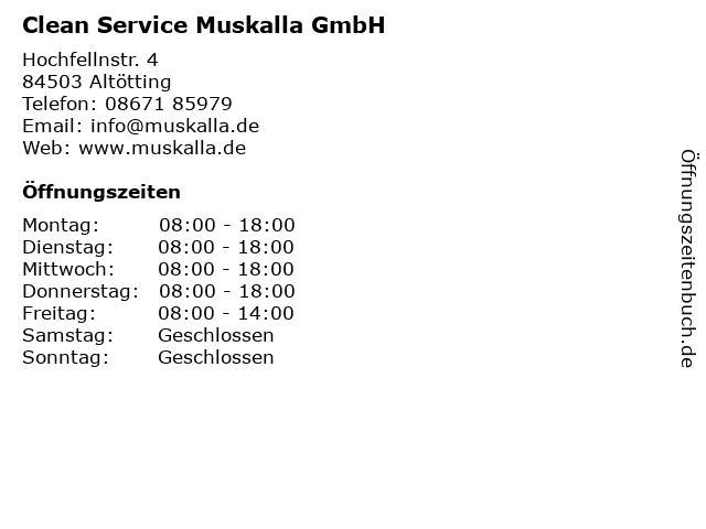 Clean Service Muskalla GmbH in Altötting: Adresse und Öffnungszeiten