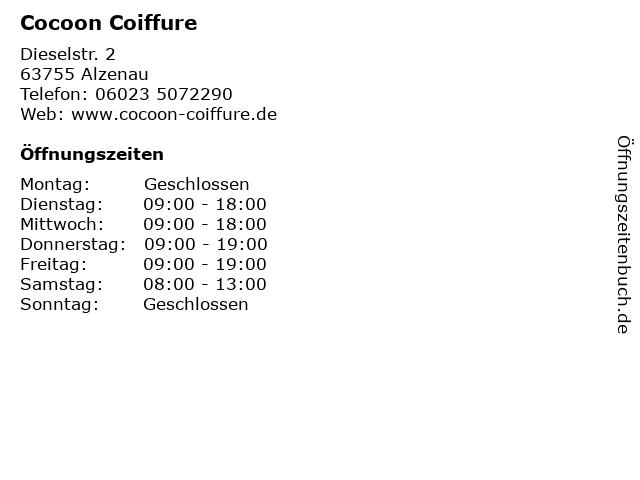 Cocoon Coiffure in Alzenau: Adresse und Öffnungszeiten