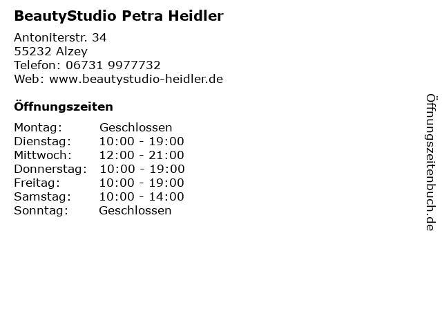 BeautyStudio Petra Heidler in Alzey: Adresse und Öffnungszeiten