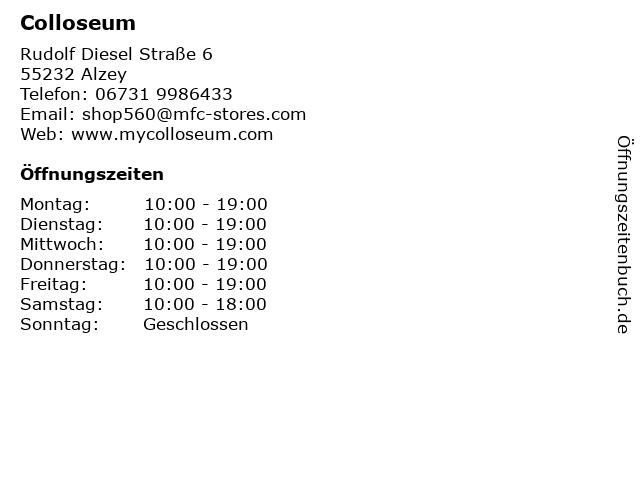 Colloseum in Alzey: Adresse und Öffnungszeiten