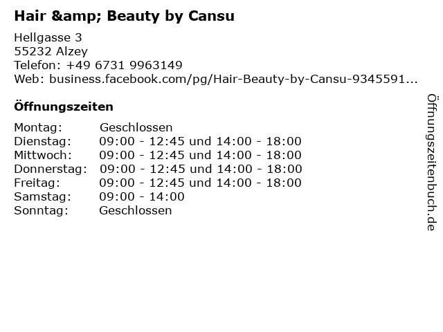 Hair & Beauty by Cansu in Alzey: Adresse und Öffnungszeiten