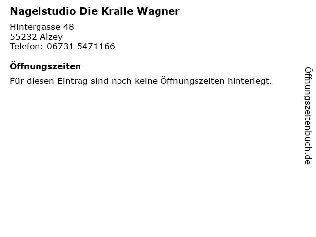 Nagelstudio Die Kralle Wagner in Alzey: Adresse und Öffnungszeiten