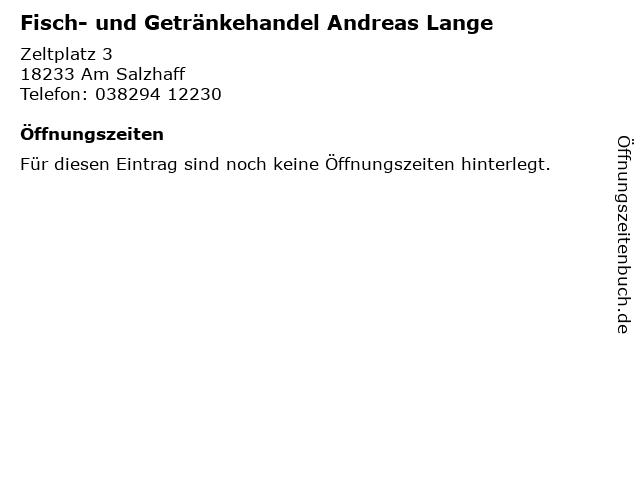 Fisch- und Getränkehandel Andreas Lange in Am Salzhaff: Adresse und Öffnungszeiten