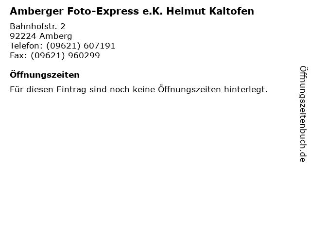 Amberger Foto-Express e.K. Helmut Kaltofen in Amberg: Adresse und Öffnungszeiten
