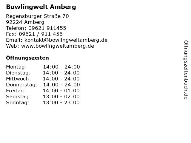 Bowlingwelt Amberg in Amberg: Adresse und Öffnungszeiten