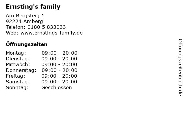 Ernsting's family in Amberg: Adresse und Öffnungszeiten