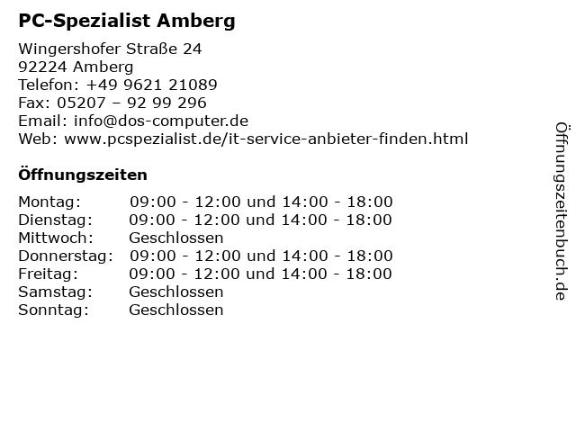 PC-Spezialist Amberg in Amberg: Adresse und Öffnungszeiten
