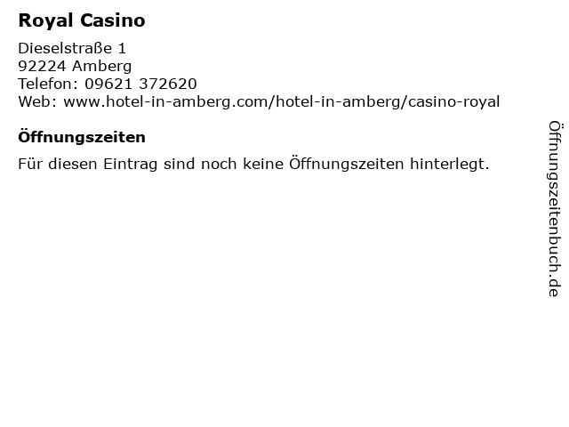 Royal Casino in Amberg: Adresse und Öffnungszeiten