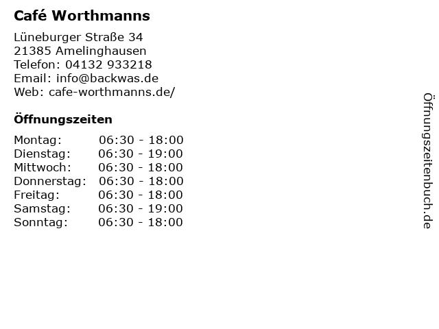 cafe Wortmann in Amelinghausen: Adresse und Öffnungszeiten