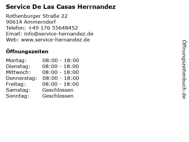Service De Las Casas Herrnandez in Ammerndorf: Adresse und Öffnungszeiten
