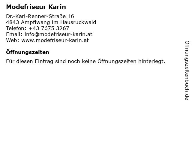 Modefriseur Karin in Ampflwang im Hausruckwald: Adresse und Öffnungszeiten