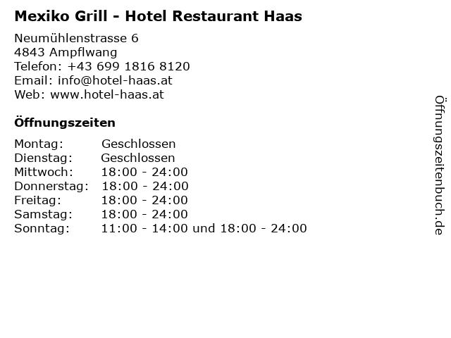 Hotel Restaurant Haas in Ampflwang: Adresse und Öffnungszeiten